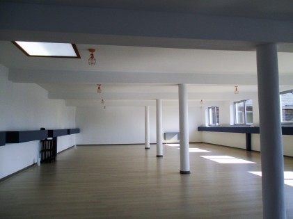 Yogazaal overdag - Sarat's Paripoorna Yoga Huis Aalst